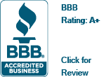 Rating A+ with the Better Business Bureau